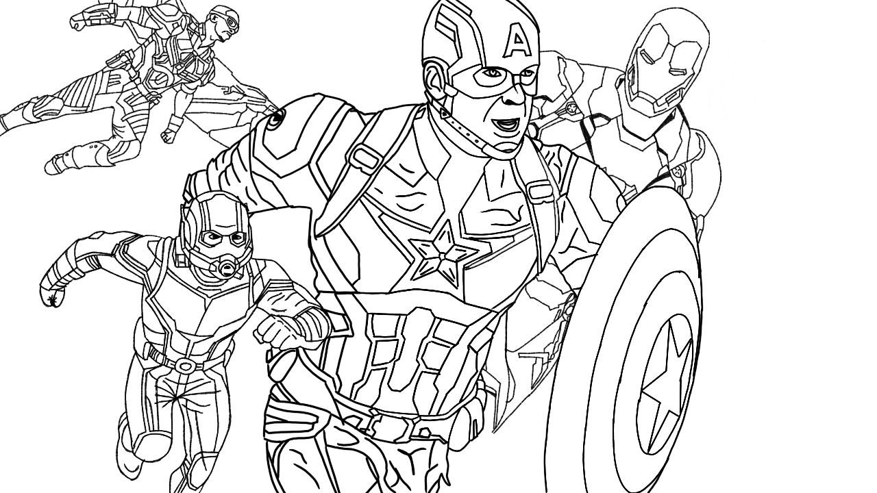 Avengers | Superhero Coloring Pages
