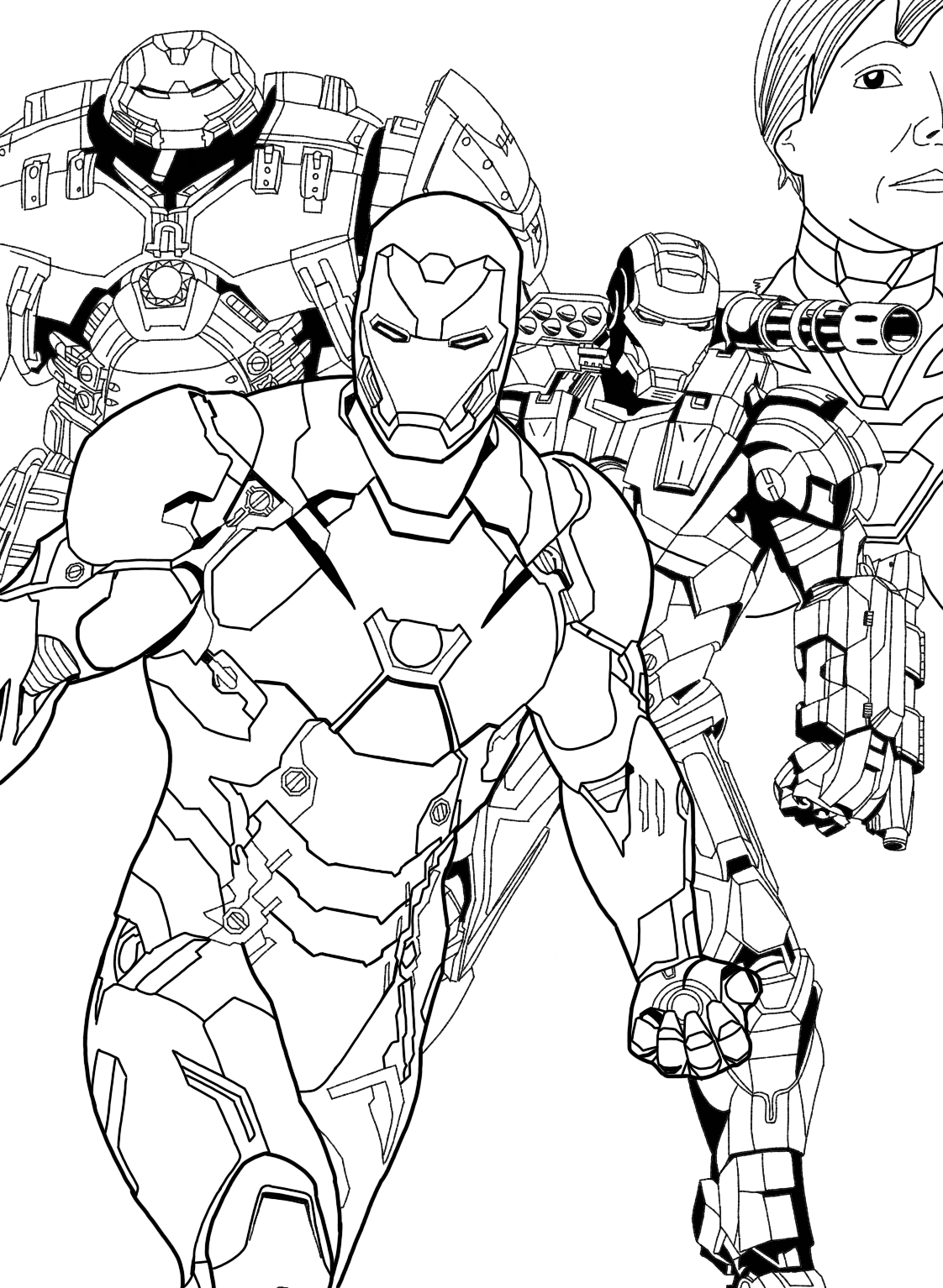 Iron Man Suits   Superhero Coloring Pages