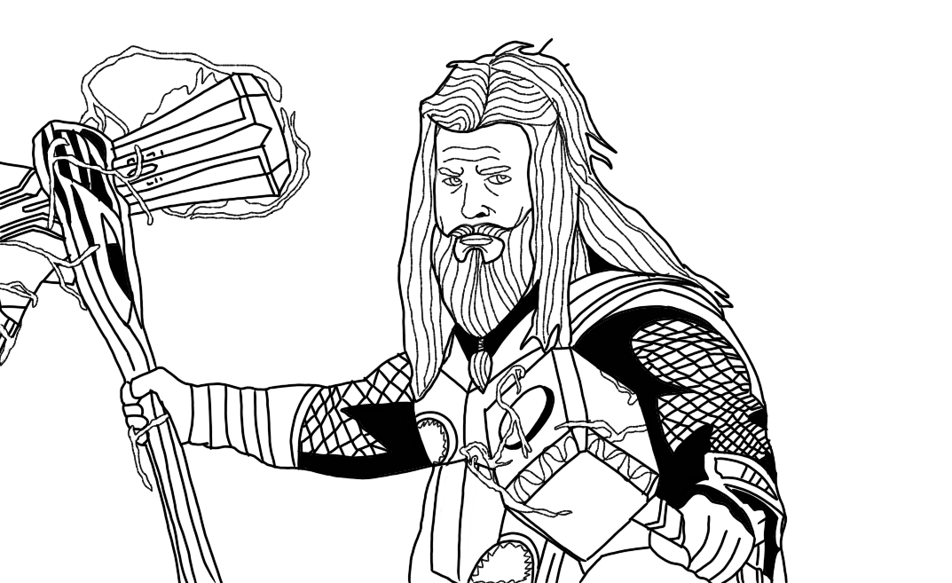 Thor Endgame Coloring Pages
