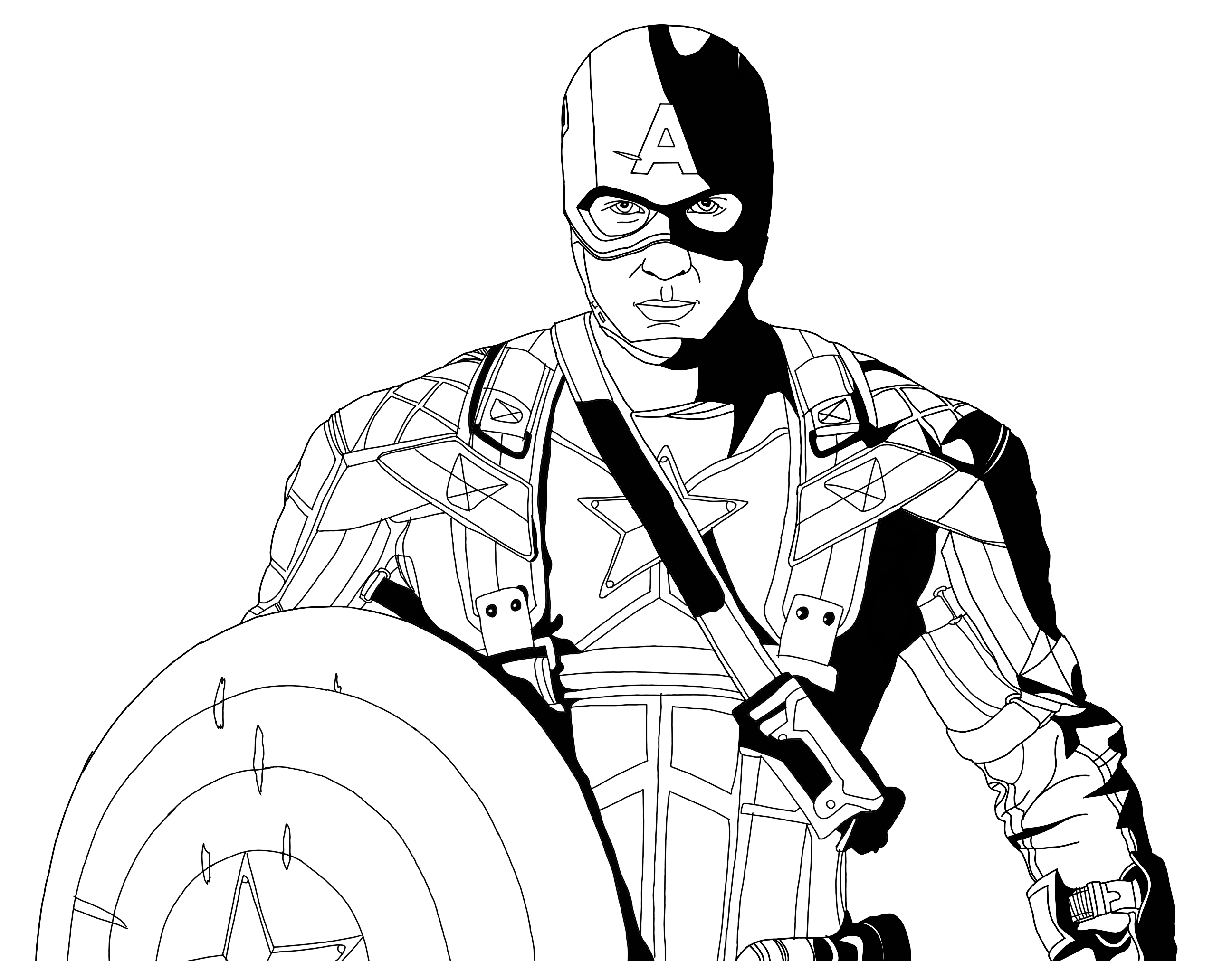 Captain America | Superhero Coloring Pages