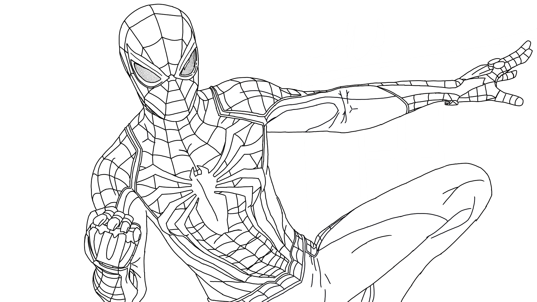 Spider-Man PS4 | Superhero Coloring Pages