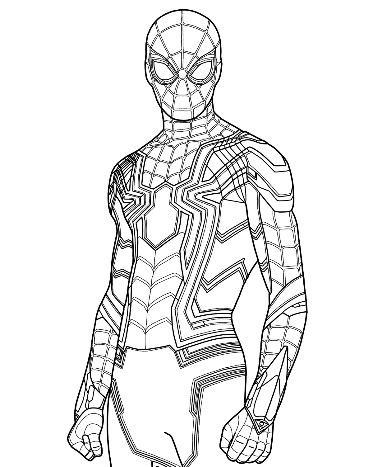 Iron Spider Man Pages Coloring Pages