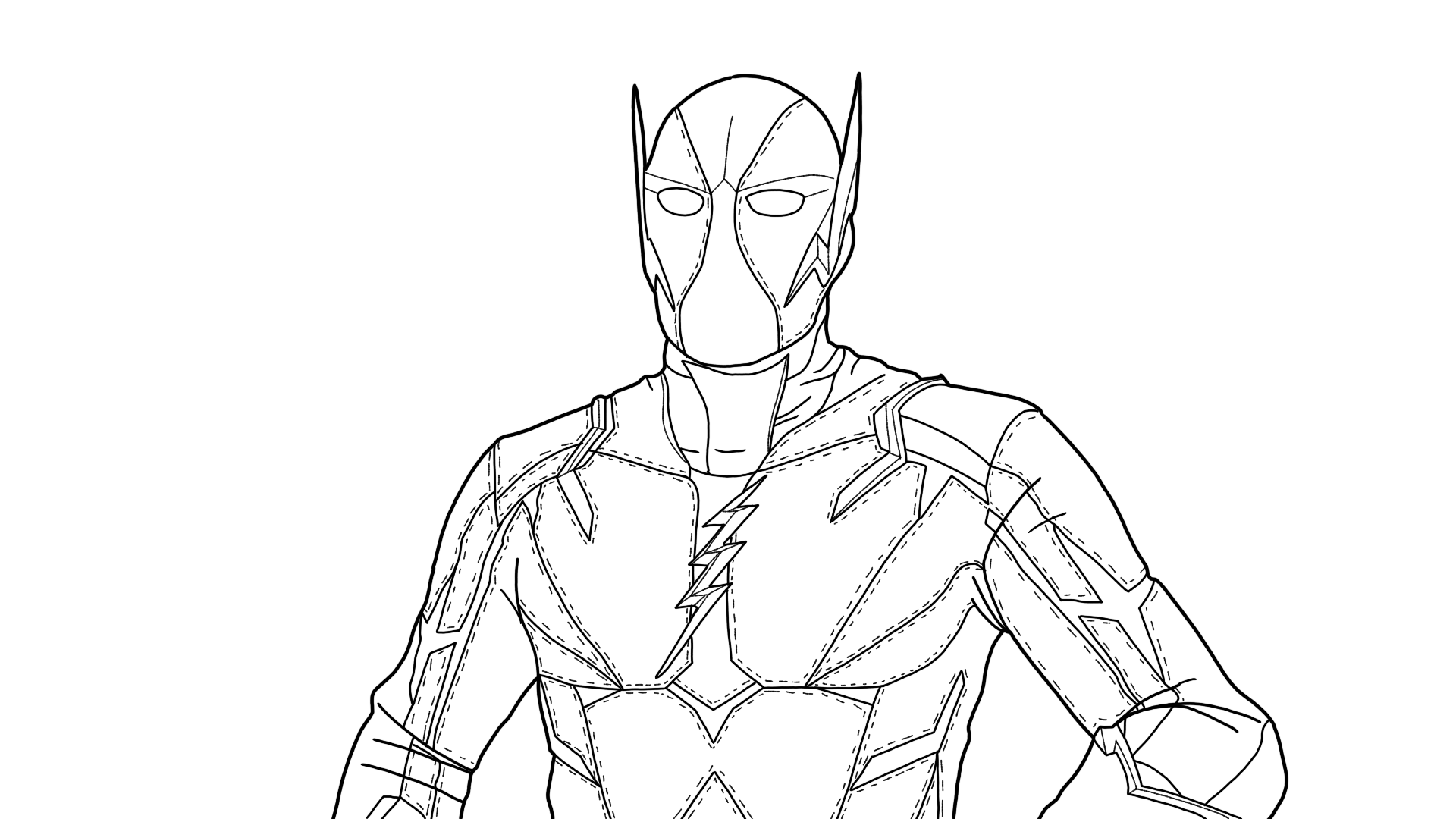 Godspeed Flash S6 Superhero Coloring Pages