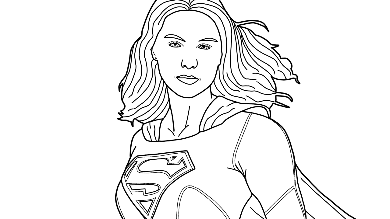 Print supergirl coloring pages | Superhero coloring pages ... | 720x1280